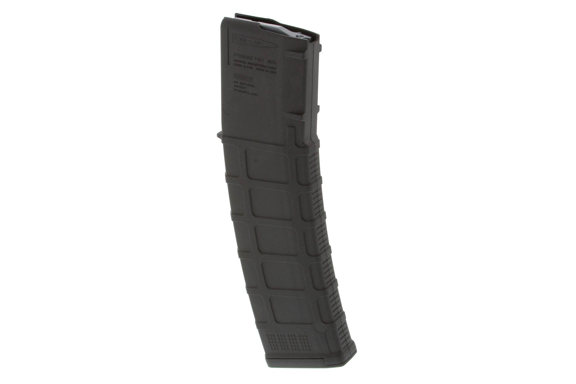 The Magpul 40 round PMAG AR15 magazine features a self lubricating anti-tilt follower