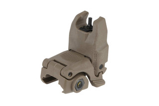 The Magpul MBUS flat dark earth front sight is made from a durable polymer