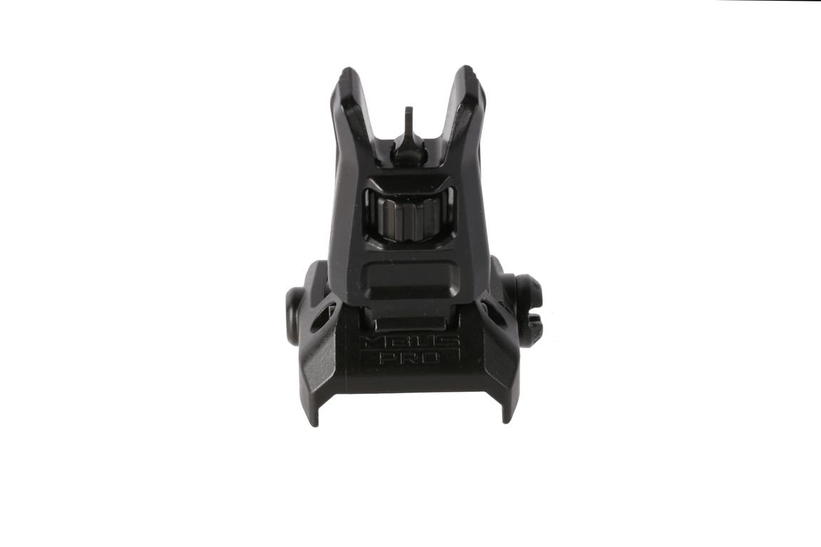 The Magpul Industries Pro folding front sight features positive lock engagements