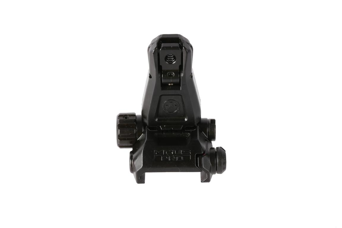 The Magpul MBUS Pro rear sight attaches directly to picatinny rails