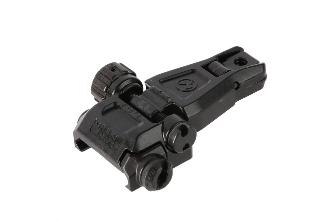 The Magpul MBUS Pro folding rear sight is low profile and snag free