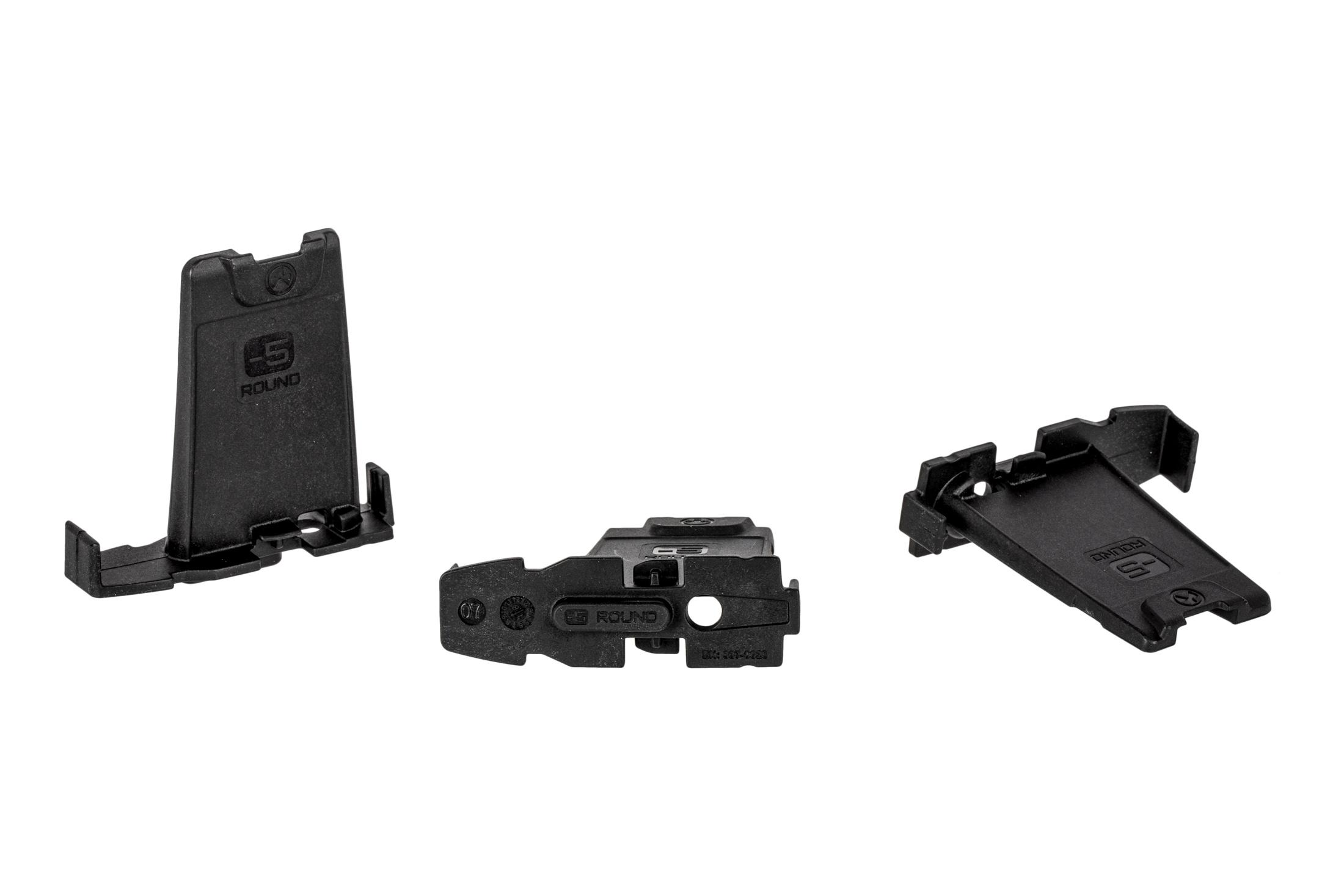 Magpul 5-Round limiters are reduce the capacity of 10, 20, and 30-round 5.56 PMAGs by 5. 3 pack of black.