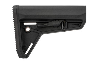Magpul MOE Slim Line carbine stock in black for MIL-SPEC buffer tubes.