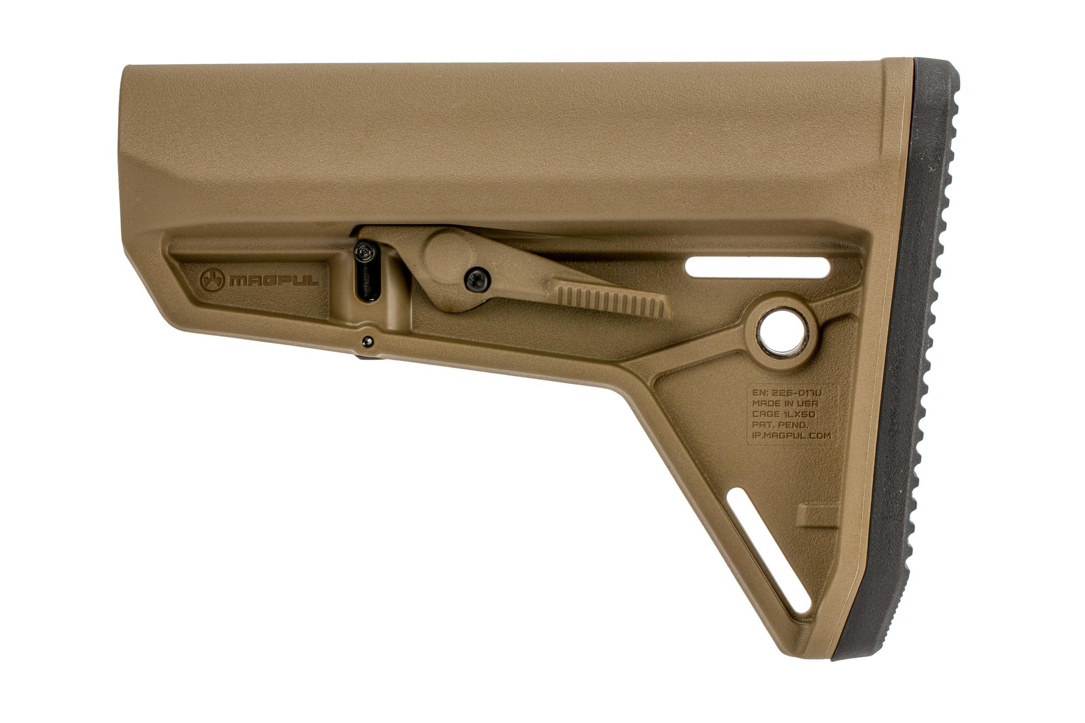 Magpul MOE SL AR-15 carbine stock with multiple QD sling swivel sockets for MIL-SPEC receiver extensions