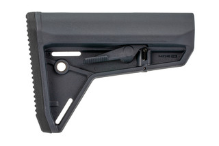 Magpul MOE Slim Line carbine stock in Stealth Grey for MIL-SPEC buffer tubes.