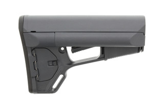 The Magpul ACS Stealth Gray AR15 Carbine stock features internal storage