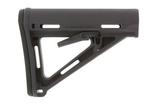 The Magpul MOE Carbine Stock Gray is made from lightweight durable polymer