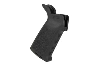 The Magpul MOE pistol grip for AR15 is made from durable black polymer