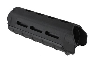 The Magpul MOE M-LOK carbine length handguard is made from black polymer