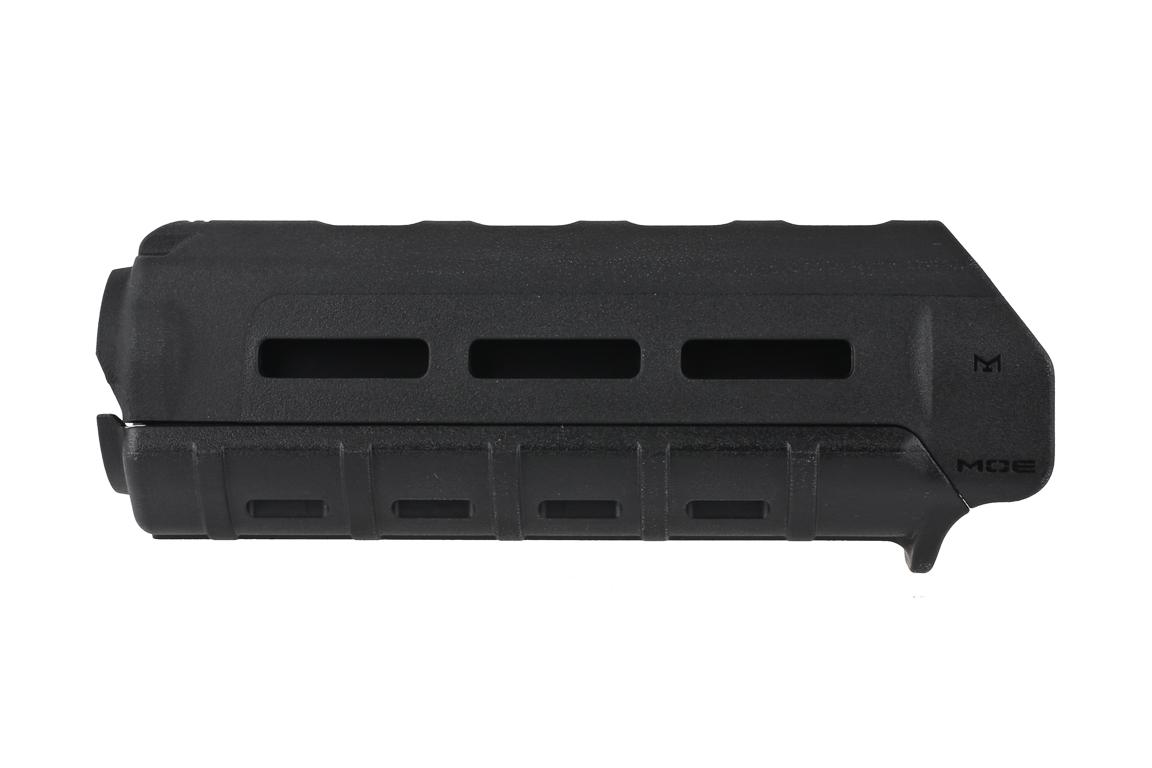 The Magpul MOE handguard features M-LOK slots for attaching lights and grips
