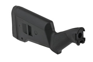 The Magpul SGA Remington 870 stock is made from a lightweight, durable black polymer