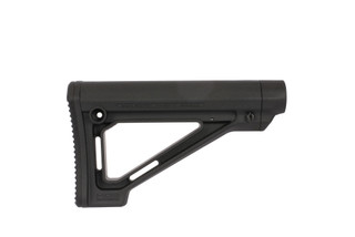 The Magpul MOE fixed carbine stock is made from black polymer and designed for mil-spec buffer tubes