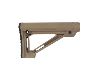 The Magpul MOE fixed carbine stock flat dark earth is designed for Mil-Spec buffer tubes