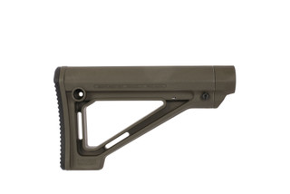The Magpul MOE fixed carbine stock in OD green is designed for Mil-Spec buffer tubes