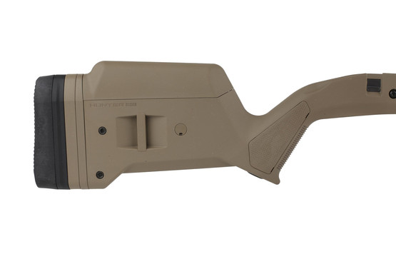 The Magpul Hunter stock Remington 700L is made from flat dark earth polymer
