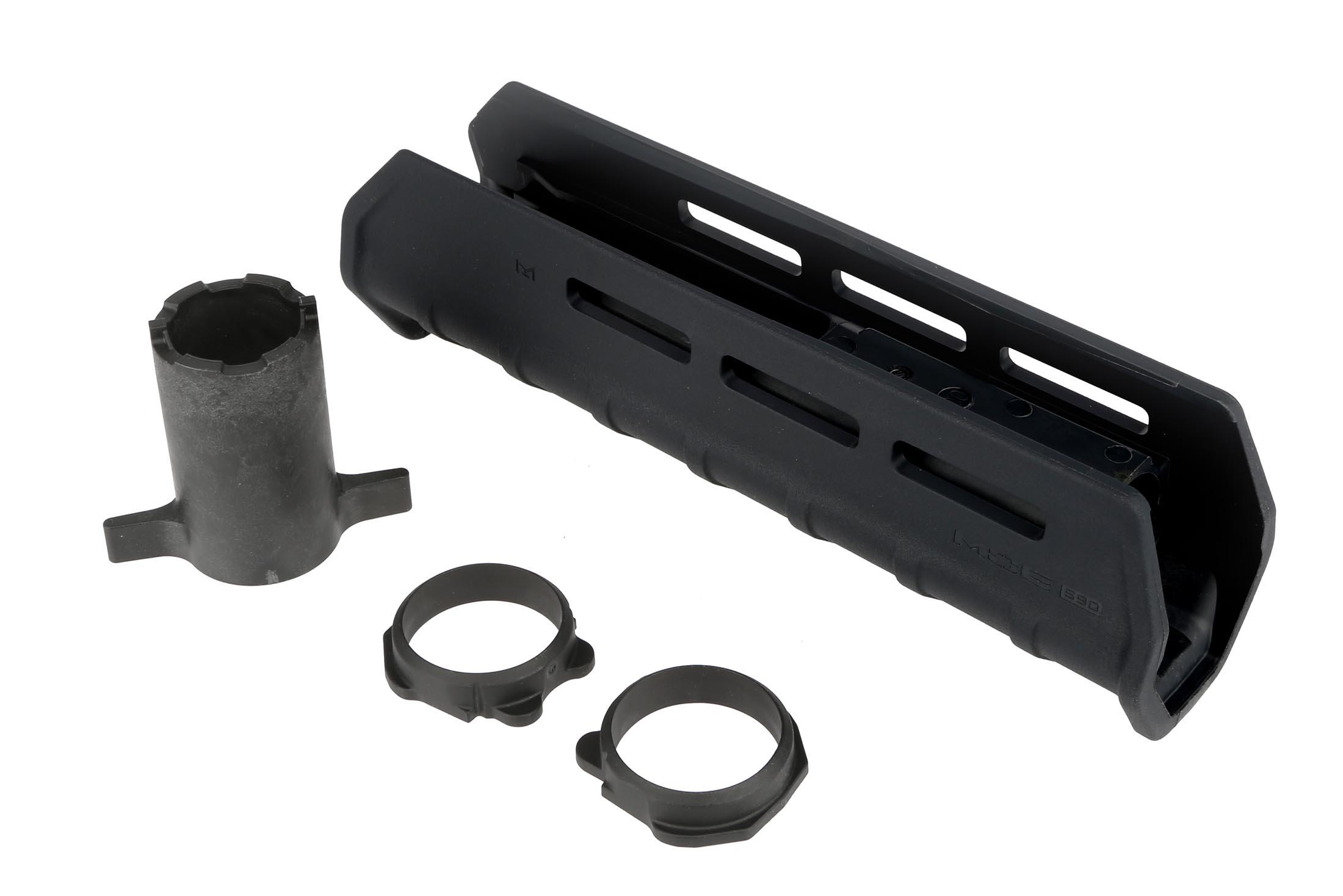 The Mossberg 590a1 magpul forend is a drop in replacement for stock handguards