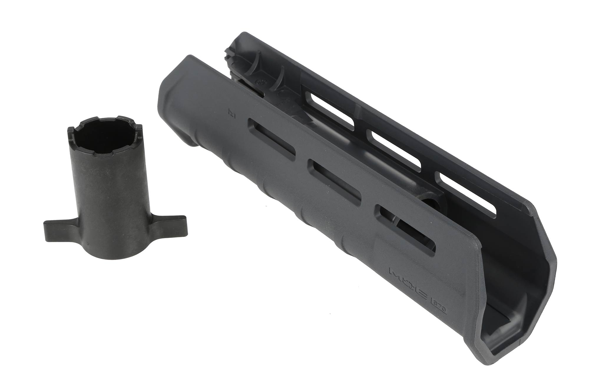 The mossberg 590 Magpul M-LOK forend comes with a tool for ease of installation