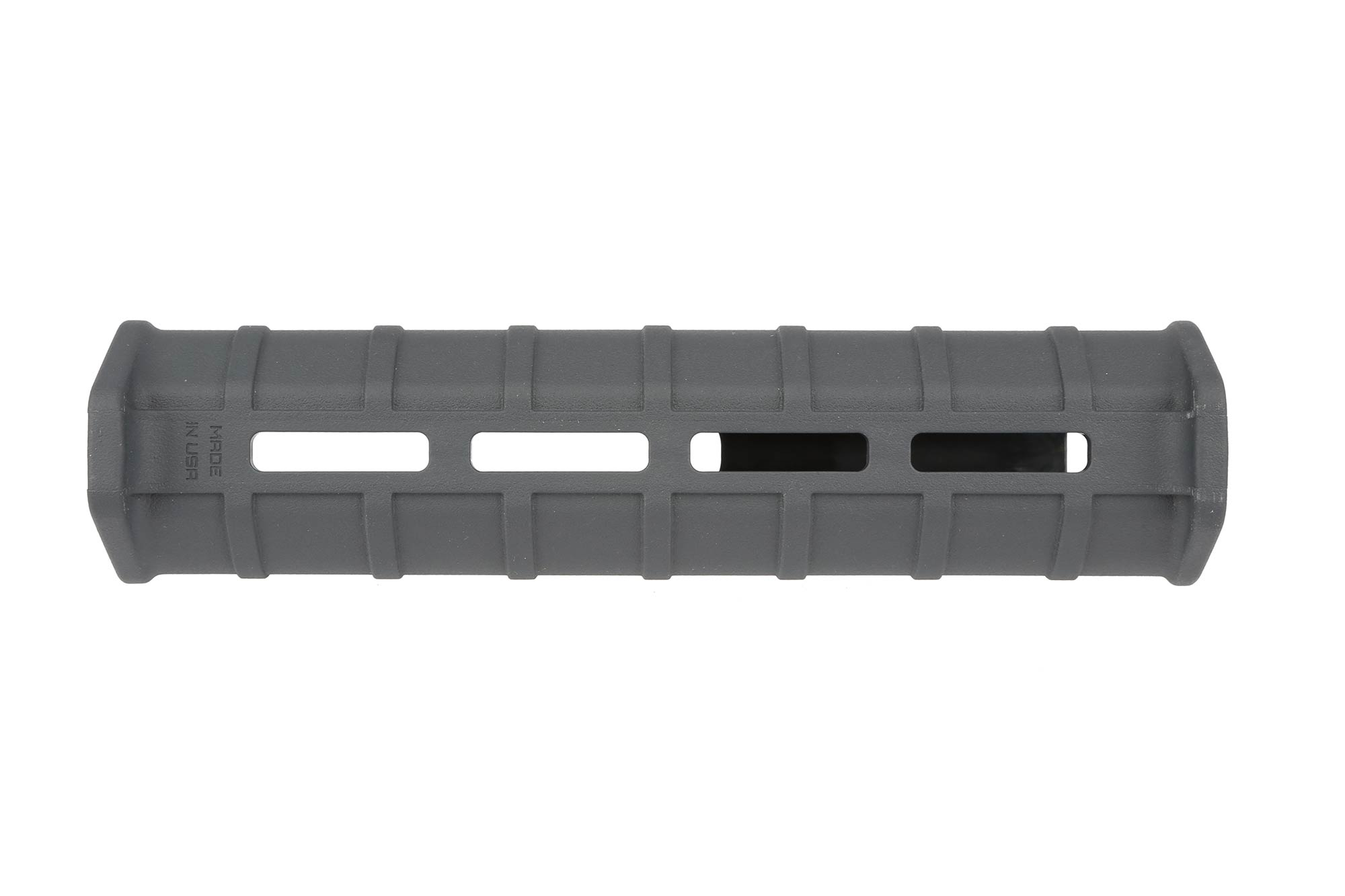 The Mossberg 590 Magpul forend features front and rear integrated hand stops