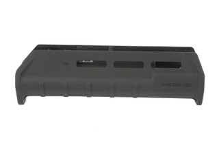 The Magpul MOE Remington 870 M-LOK forend is made from a durable black polymer