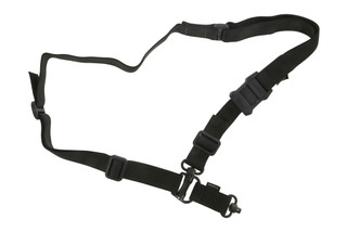 The Magpul MS4 Dual QD Sling Gen 2 Black can be changed from a one point to two point style