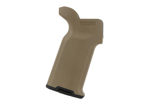 The Magpul MOE K2+ flat dark earth pistol grip features a verticle grip angle