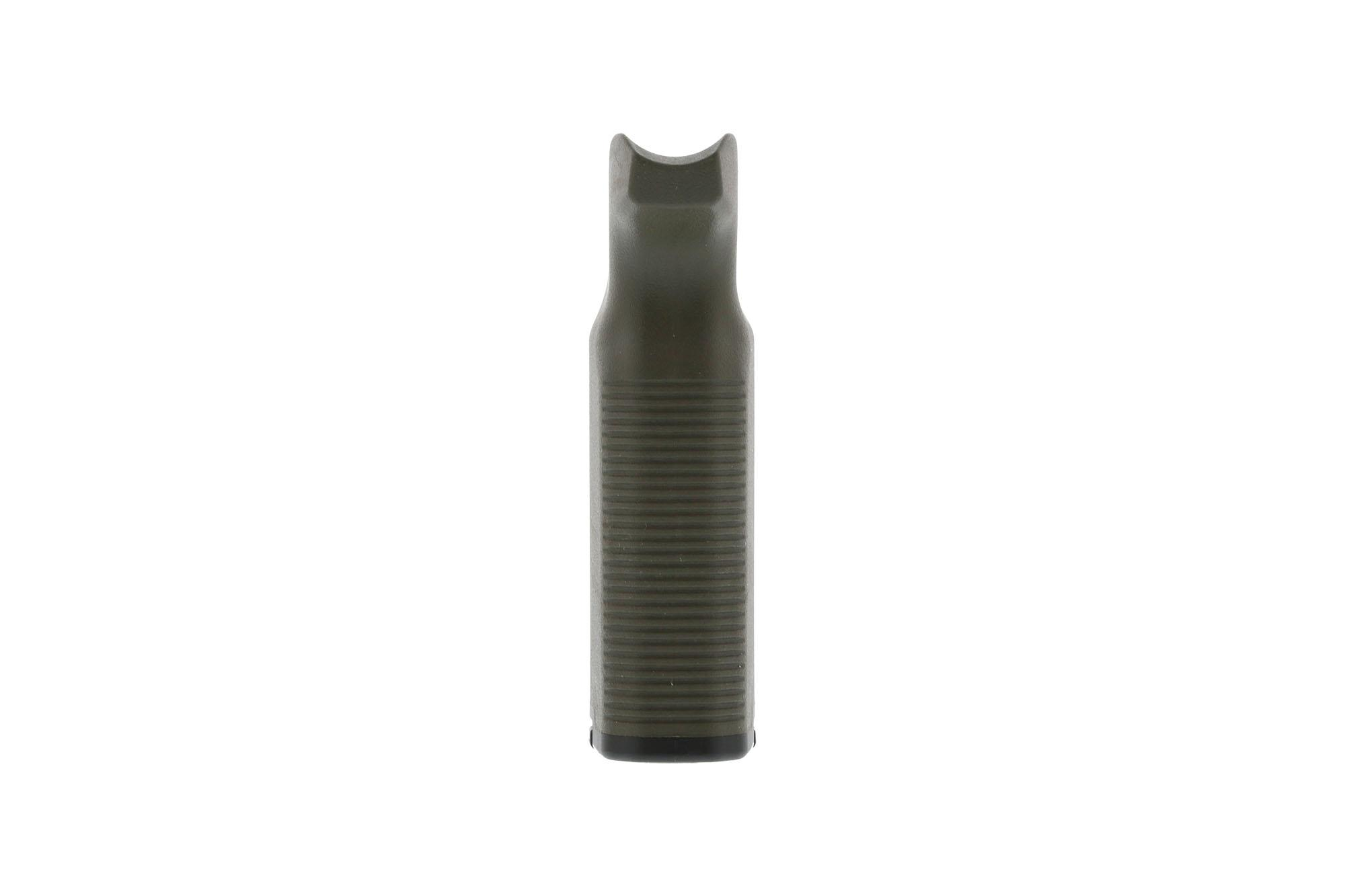 The MOE K2+ AR-15 pistol grip OD Green features a compartment for storing oil bottles