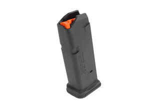 The Magpul GL9 PMAG 15 Glock 19 Magazine is made entirely out of black polymer