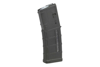 The Magpul PMAG 30 AR-15 M4 GEN M3 Window 5.56 NATO and .223 Magazine is made from durable black polymer.