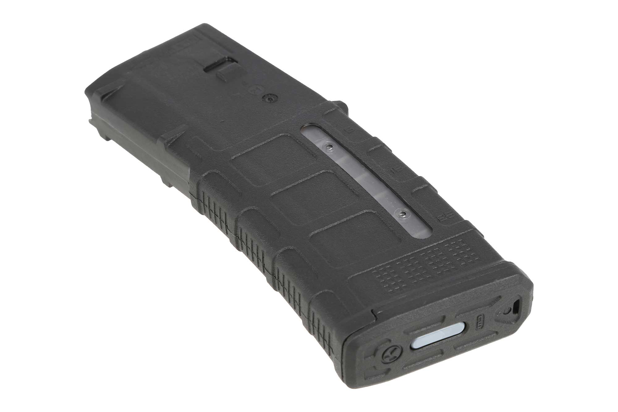 The PMAG 30 AR-15 M4 GEN M3 5.56 NATO and .223 magpul Magazine features a clear window port for counting ammo