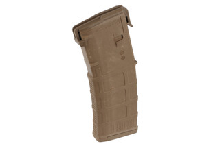 The Magpul PMAG 30 AR15 and M4 GEN M3 5.56 NATO Magazine features a Coyote Tan polymer design