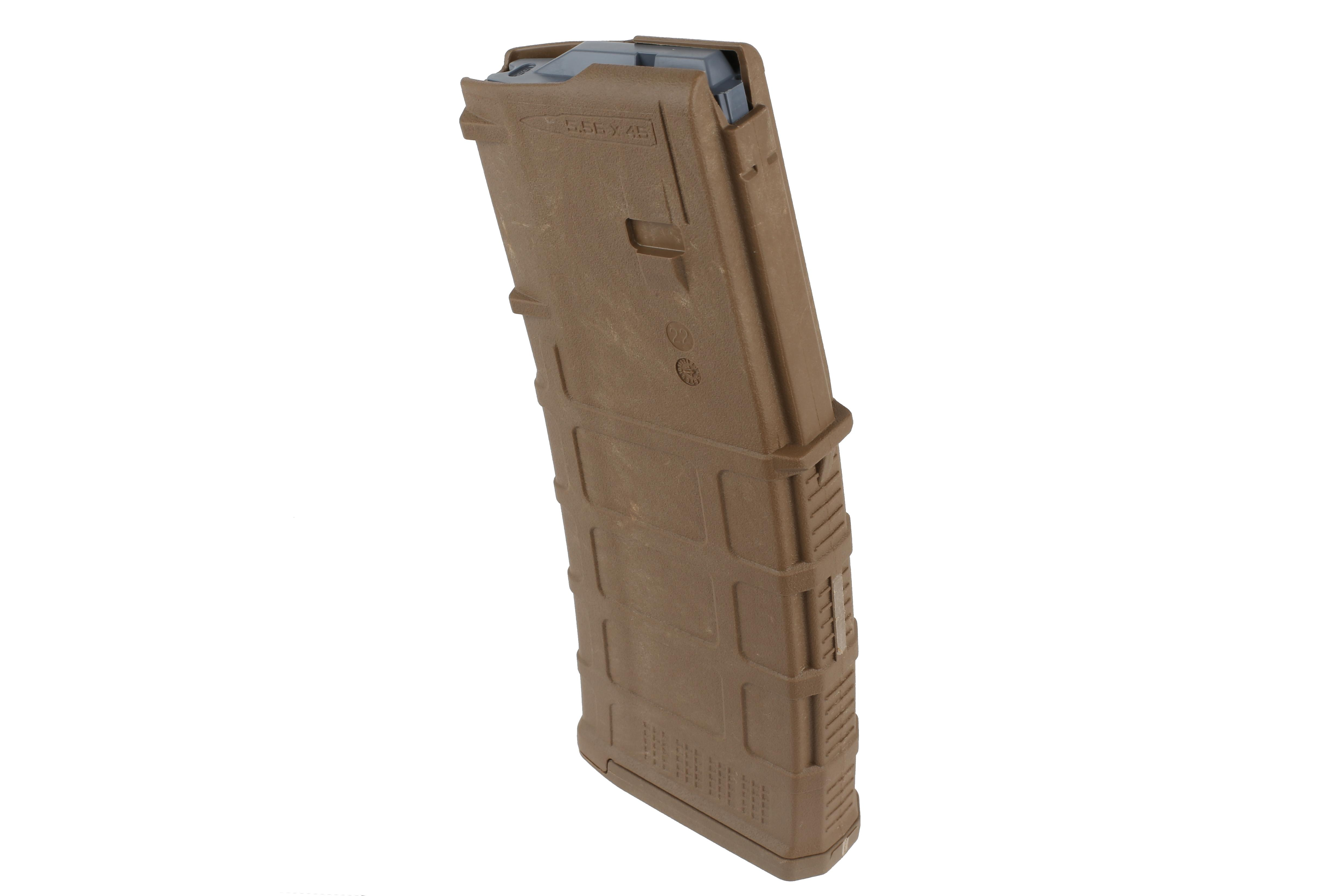 The PMAG 30 AR15 and M4 GEN M3 5.56 NATO Magpul Magazine features reinforced feed lips and lubricated follower