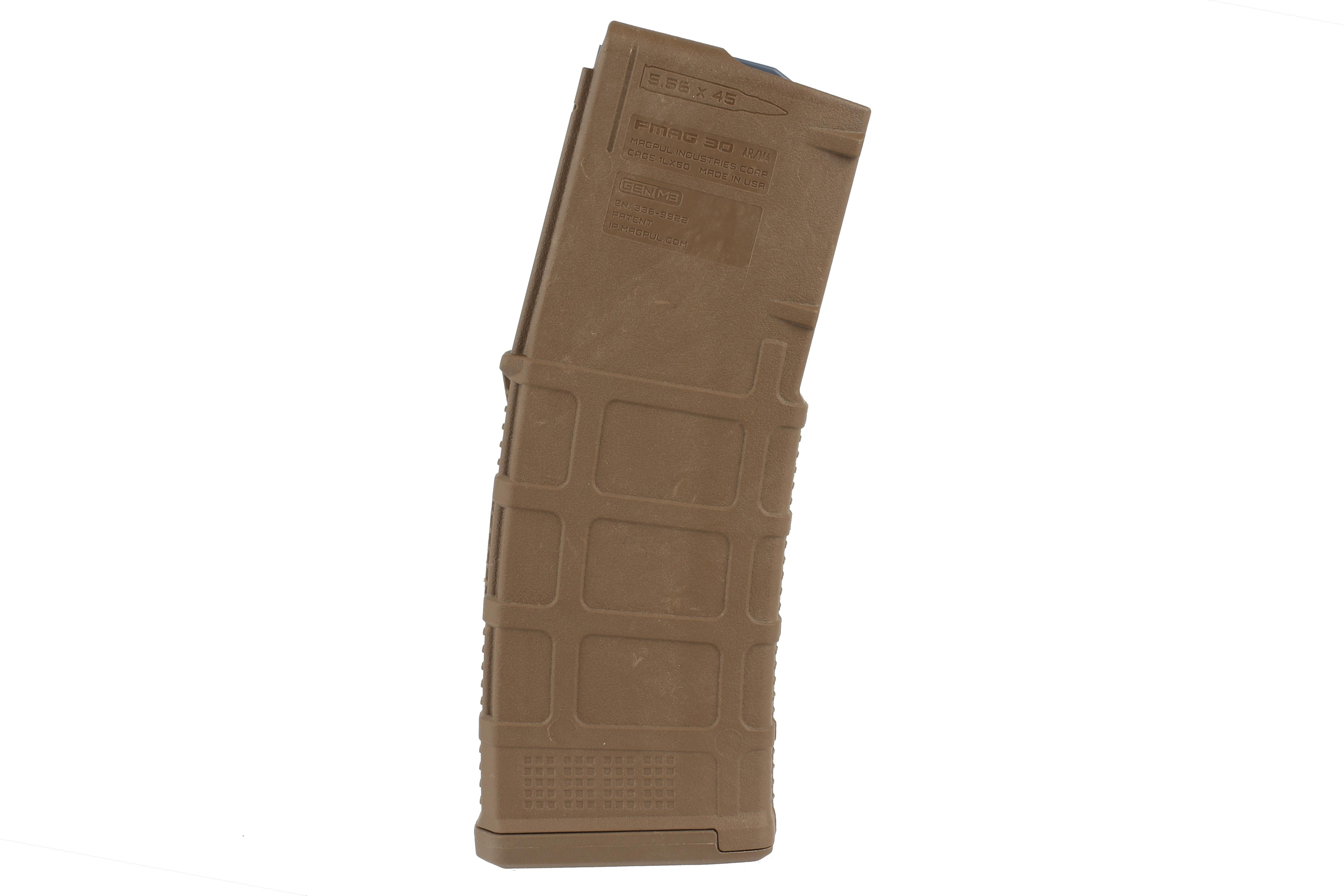 The PMAG 30 AR15 and M4 GEN M3 5.56 NATO Magpul Magazine features an aggressive polymer texture