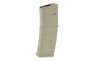 The Magpul PMAG 30 AR-15 M4 GEN M3 5.56 NATO .223 Magazine features a sand color lightweight and durable polymer design