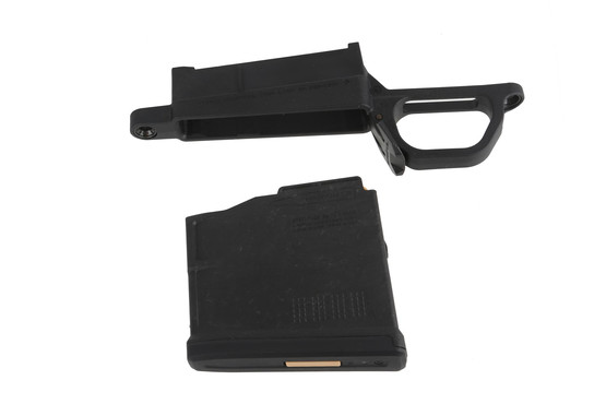 This Remington 700L Magnum Magazine well comes with a Magpul PMAG AICS magazine