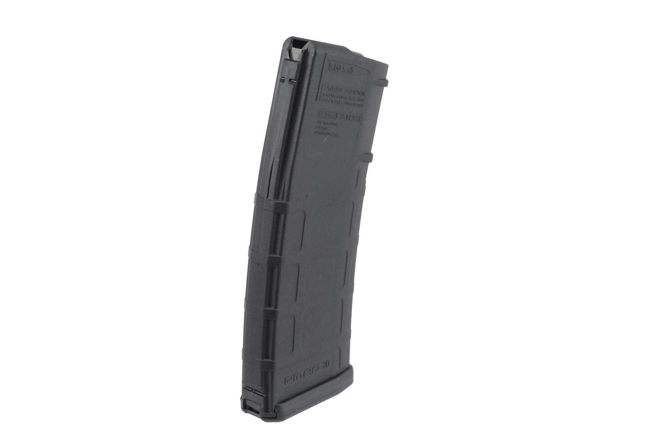 The Magpul PMAG 5.56 magazine has a stainless steel follower spring and a constant curve geometry for reliable feeding