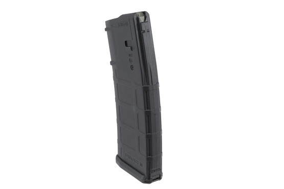 The P mag polymer magazine from Magpul has an aggressive texture and flared floor plate to assist in mag extraction