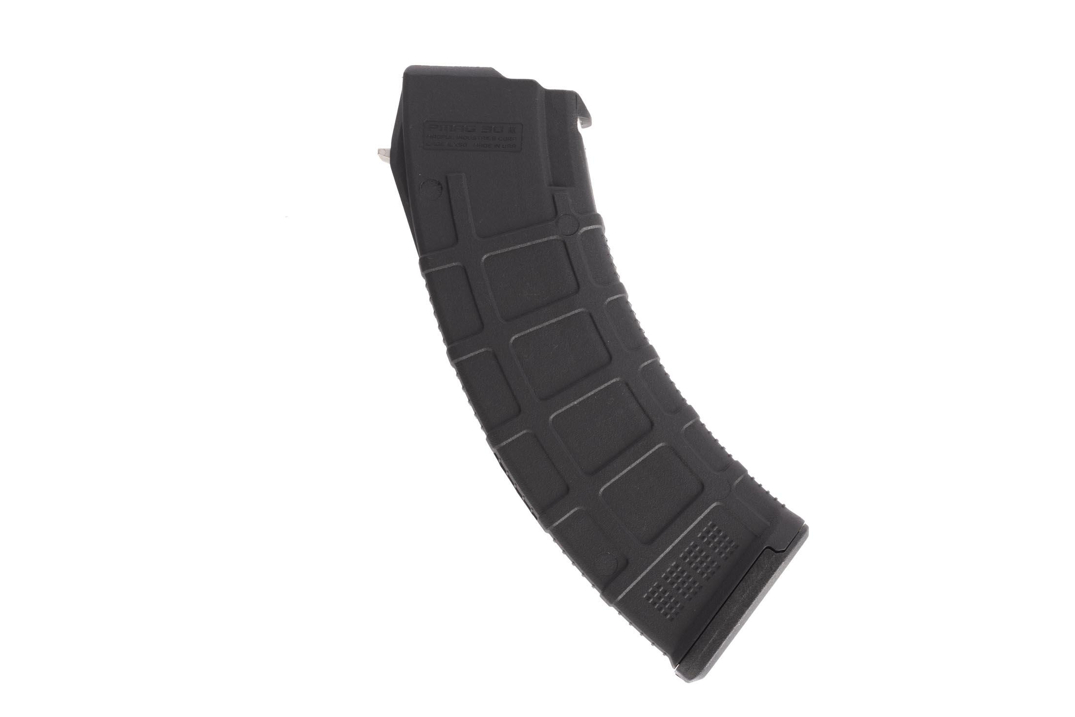 The Magpul AK PMAG Gen m3 30 round magazine features steel reinforced feed lips
