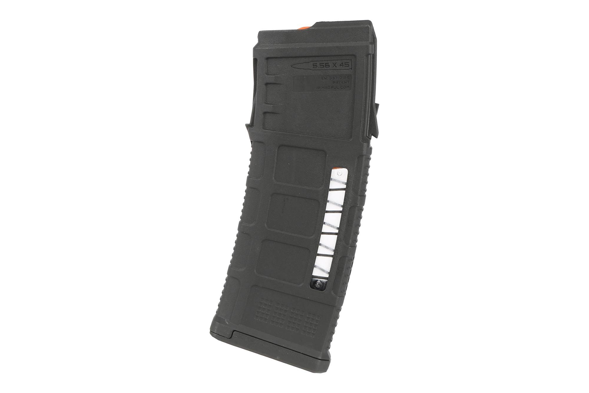 The Magpul PMAG AUS Steyr AUG 5.56 magazine holds 30 rounds