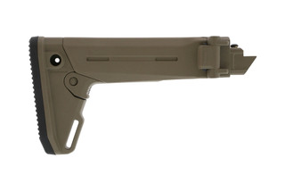 The Magpul Zhukov-S AK Stock in flat dark earth features a side folding design