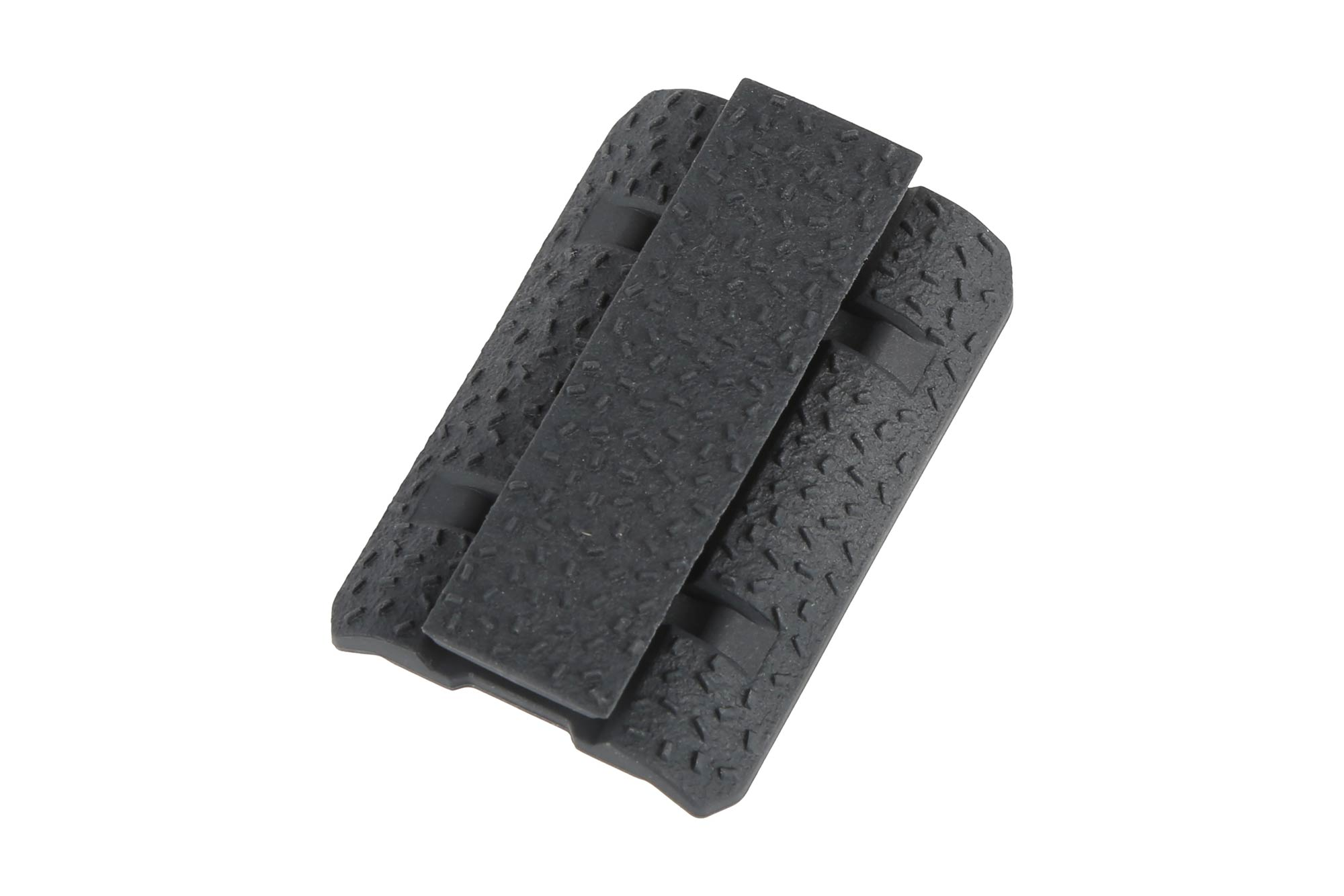The Magpul Industries polymer M-LOK rail cover features an aggressive no slip grip
