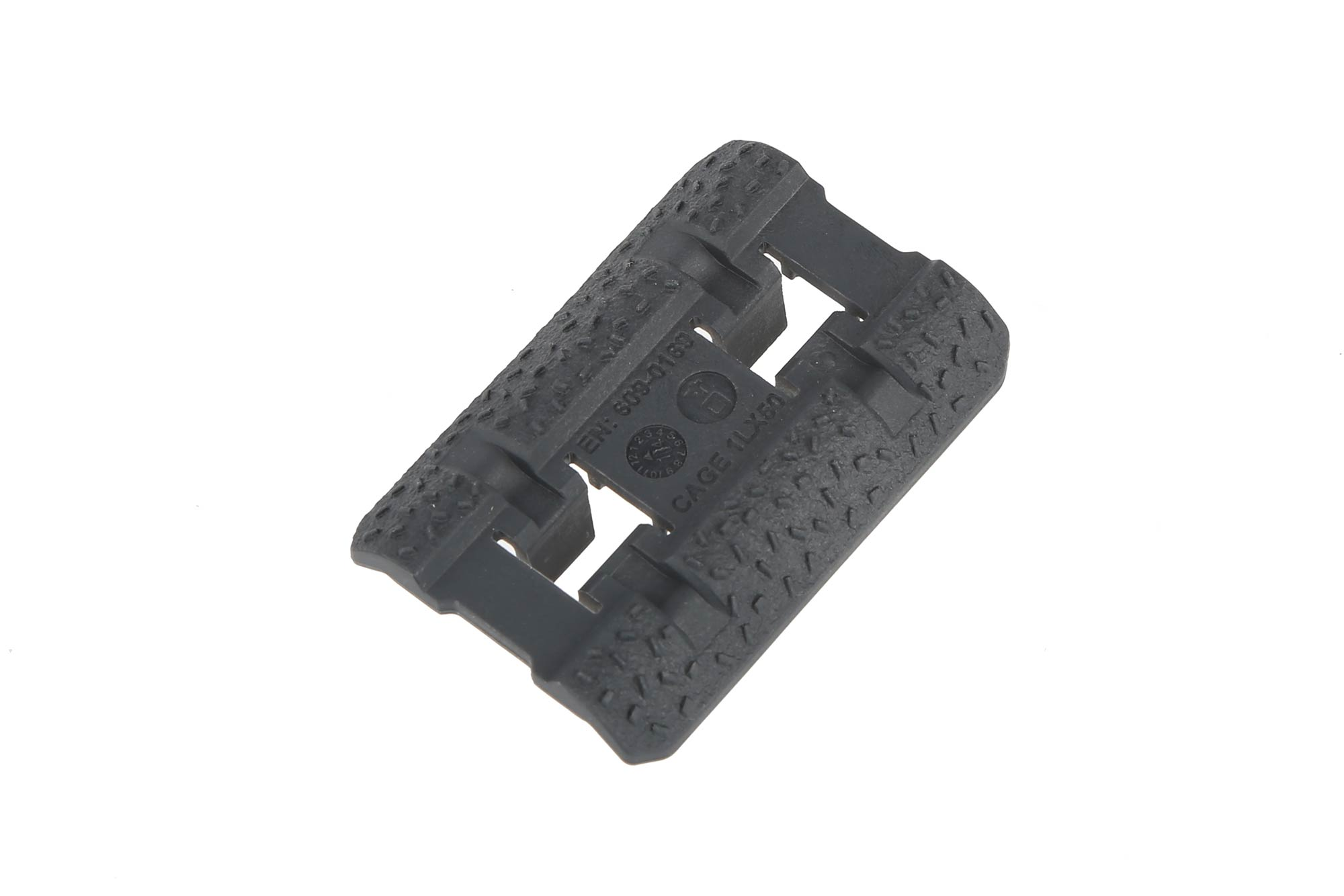 The Magpul Industries stealth gray rail cover attaches directly to M-LOK handguards