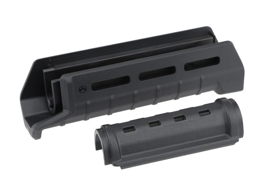 The Magpul AKM MOE handguard is a two piece easy to install design