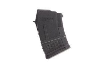 The Magpul AK PMAG 10 round 7.62x39 magazine with black polymer body is compatible with a wide range of AK47 pattern rifles
