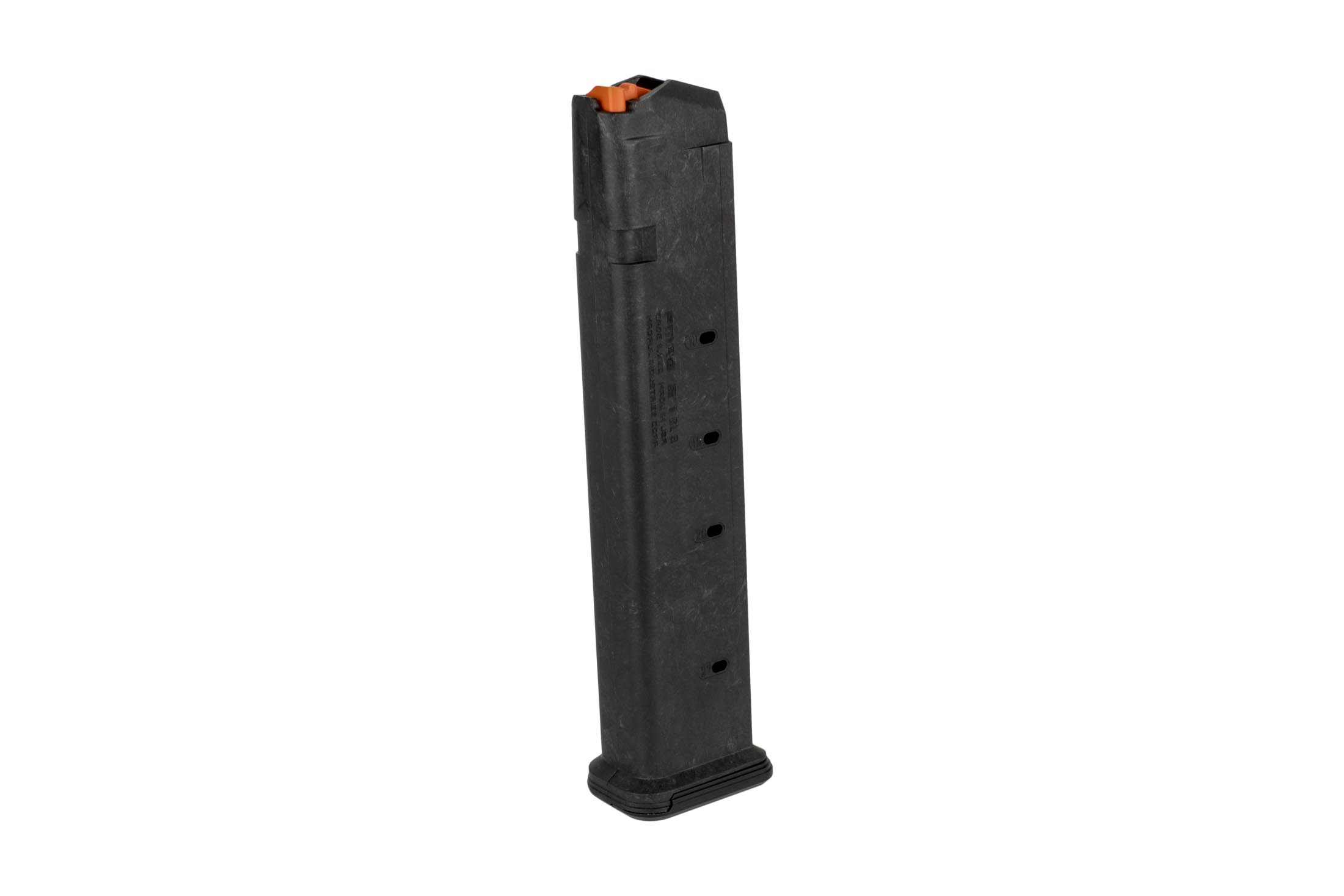 The Magpul PMAG 27 GL9 Glock magazine is made from a durable polymer