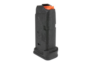 The Magpul PMAG Glock 26 magazine holds 12 rounds of 9mm ammunition
