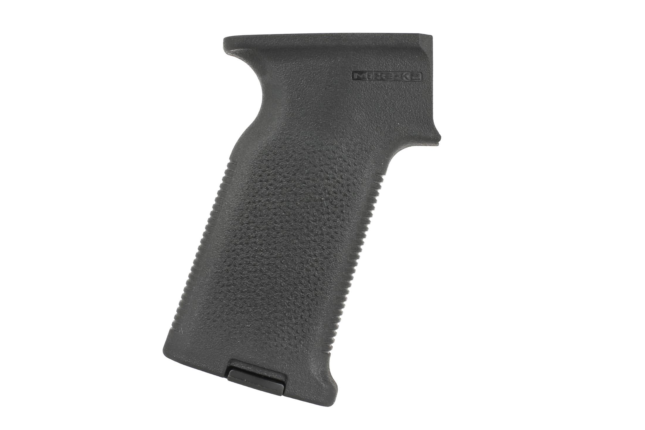 The Magpul MOE-K2 AK47 pistol grip features a textured surface