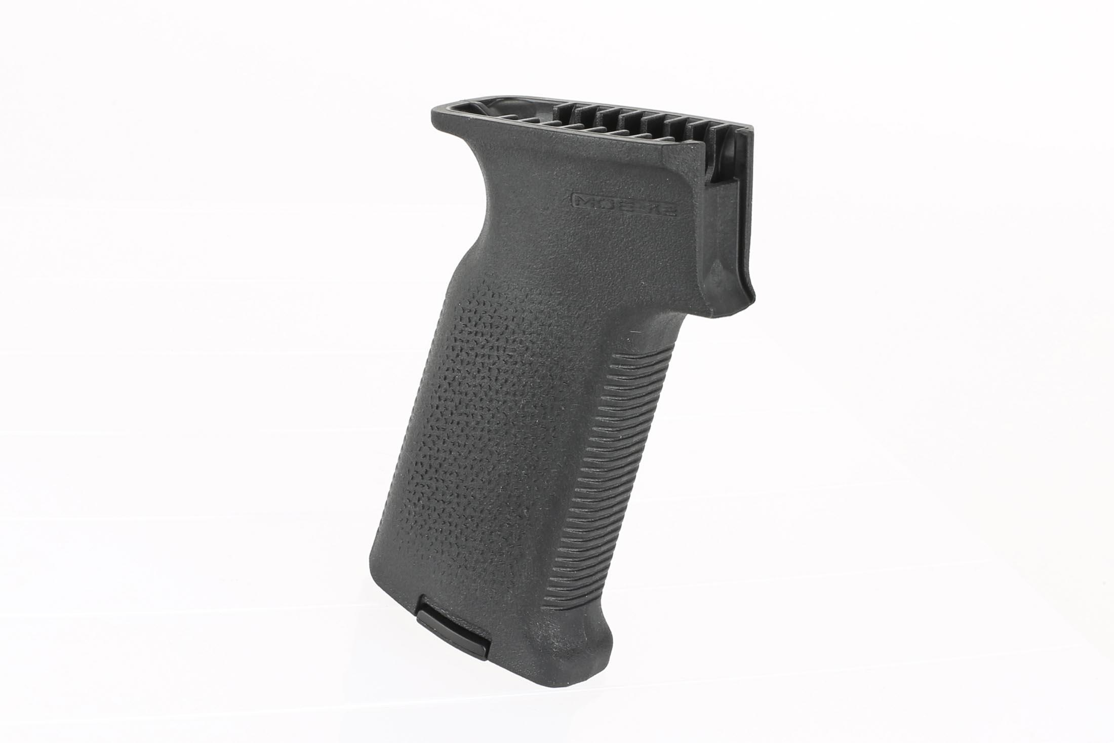 The Magpul MOE K2 AK-47 pistol grip is compatible with milled and stamped receivers