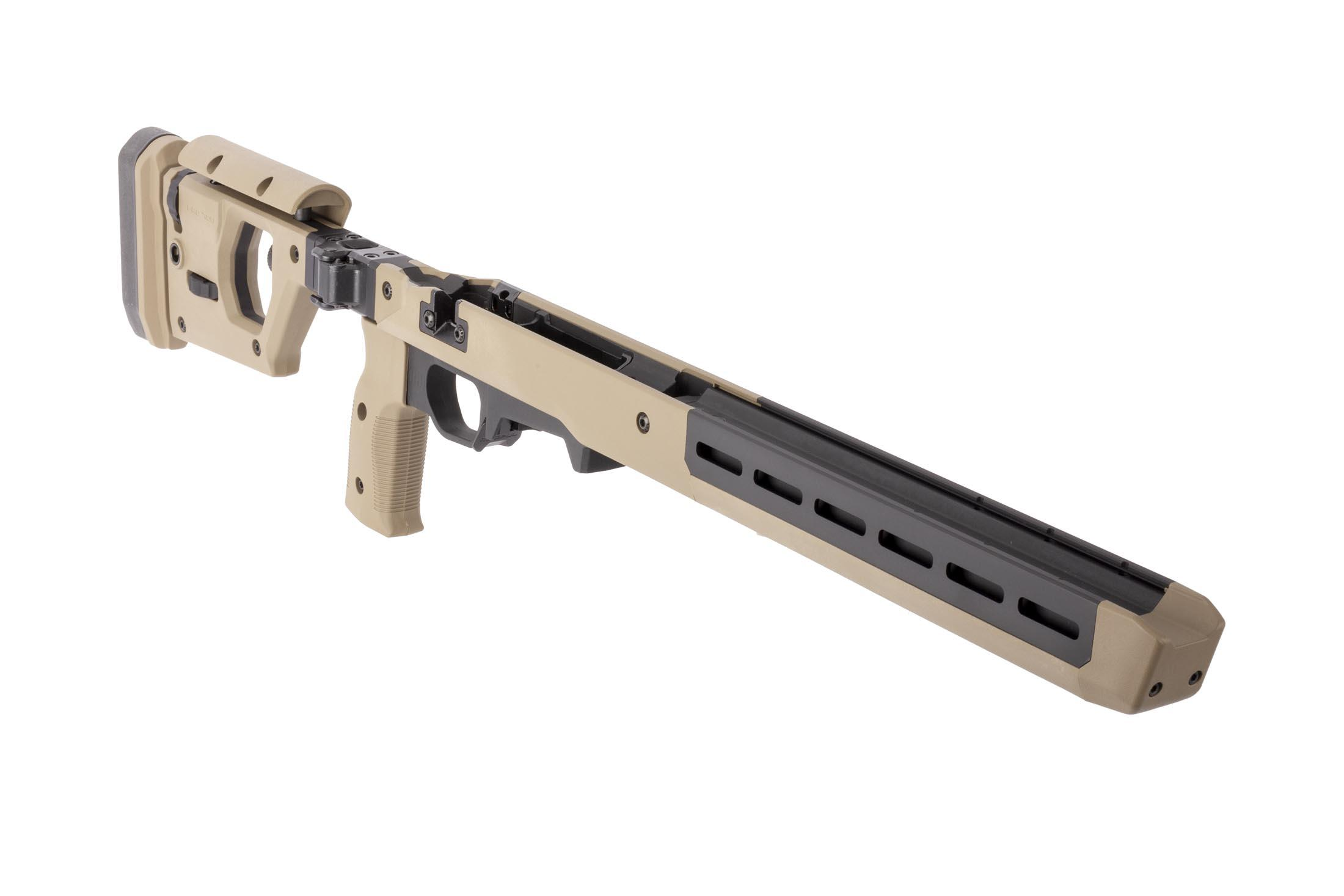 Magpul Pro 700 Rifle Chassis is the ultimate short action rifle stock for precision and tactical shooting with flat dark earth finish