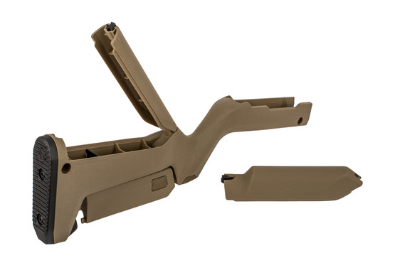 Magpul X-22 Backpacker Ruger 10/22 Takedown Stock FDE features internal storage compartments