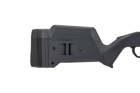 The Magpul Hunter Ruger American Stock has a rubber buttpad adjustable for length of pull